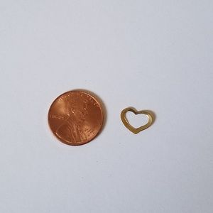 Handmade Jewelry - 14KT Yellow Gold Open Heart Small Pendant Mark
